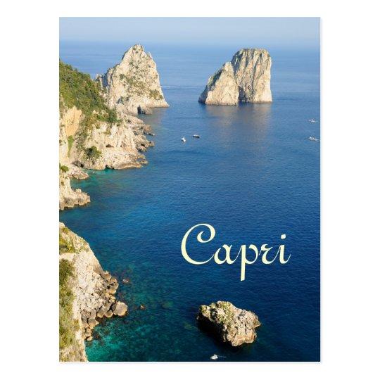 Capri island postcard