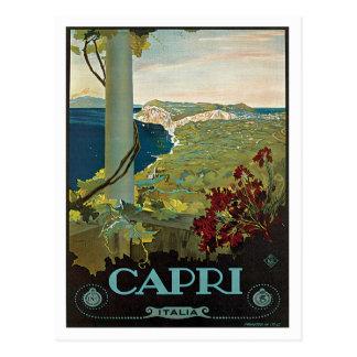 Capri Italia Italy Vintage Postcard