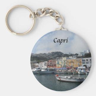 Capri, Italy Basic Round Button Keychain