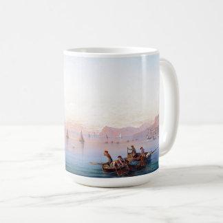 Capri Italy Boats Mediterranean Ocean Beach Mug