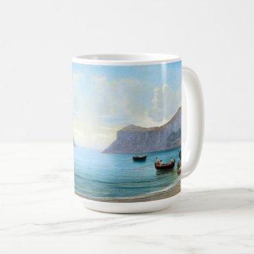 Beach Themed Capri Italy Boats Mediterranean Ocean Sea Mug
