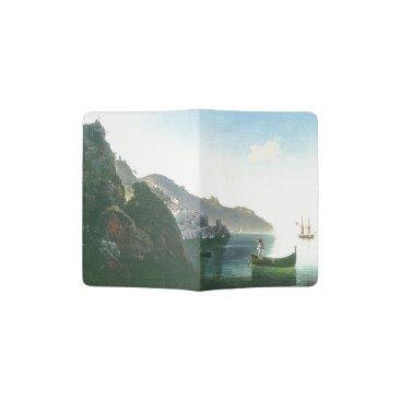 Beach Themed Capri Italy Boats Ocean Coast Passport Holder