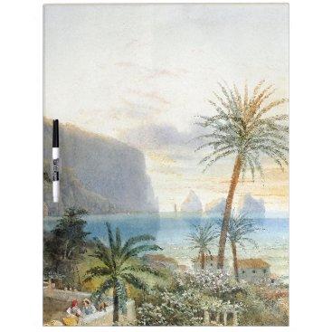Capri Italy Coast Palms Ocean Dry Erase Board