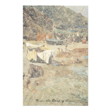 Beach Themed Capri Italy Fishing Boats Beach Ocean Stationery