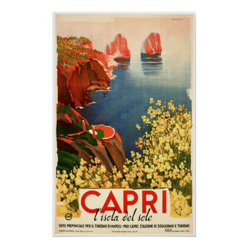 CAPRI ITALY Island Of The Sun Vintage Travel