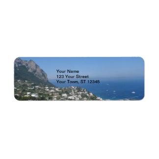 Capri, Italy Return Address Label