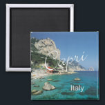 """Capri Italy Travel Photo Souvenir Fridge Magnet<br><div class=""""desc"""">Tip: dates added to your magnets make a fun chronology of your travels.</div>"""