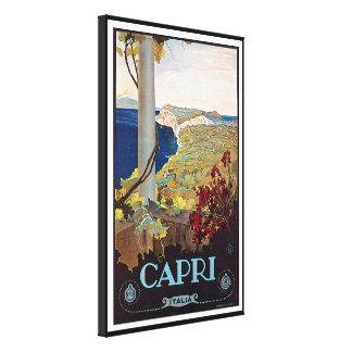 Capri Italy Vintage Travel Poster Canvas Print