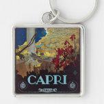 Capri, Italy Vintage Travel Poster Keychains