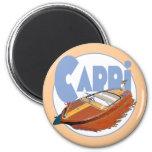 Capri Powerboat 2 Inch Round Magnet