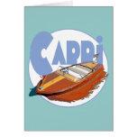 Capri Powerboat Greeting Cards