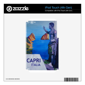 Capri view with Ancient Roman Empire Statue Poster Decal For iPod Touch 4G