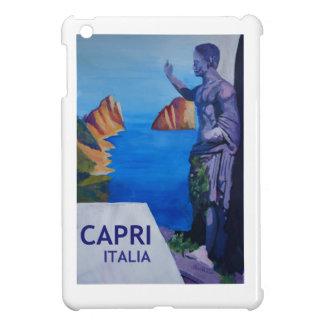 Capri view with Ancient Roman Empire Statue Poster iPad Mini Cases
