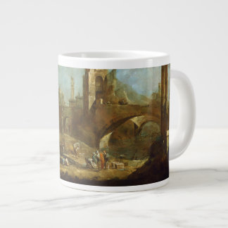 Capriccio of a Harbor Jumbo Mug