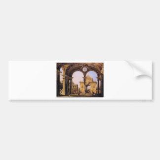 Capriccio of a Renaissance Triumphal Arch seen Bumper Sticker