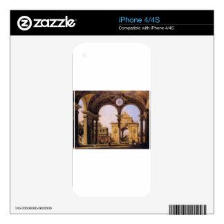 Capriccio of a Renaissance Triumphal Arch seen iPhone 4 Skin
