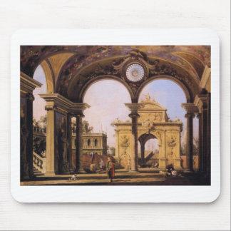 Capriccio of a Renaissance Triumphal Arch seen Mouse Pad