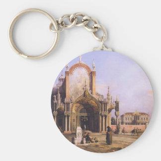 Capriccio of a Round Church with an Elaborate Keychain