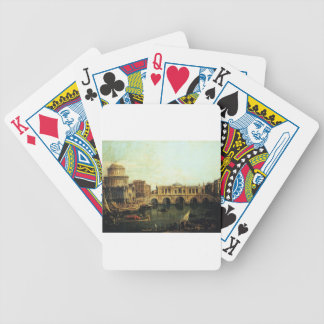 Capriccio of the Grand Canal With an Imaginary Bicycle Playing Cards