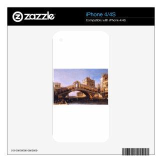 Capriccio of the Rialto Bridge with the Lagoon Decals For iPhone 4