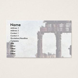 Capriccio Romano Colosseum  By Bernardo Bellotto Business Card