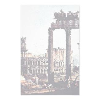 Capriccio Romano Colosseum  By Bernardo Bellotto Stationery Paper