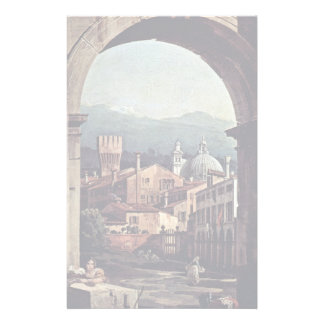 Capriccio Romano Gate And Guard Tower Details Customized Stationery