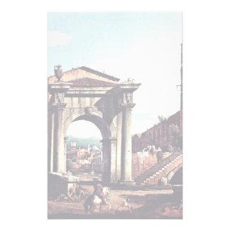 Capriccio Romano Gate And Guard Tower Customized Stationery