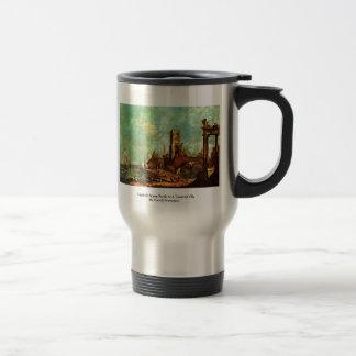 Capriccio Scene Porch At A Towered City Coffee Mugs