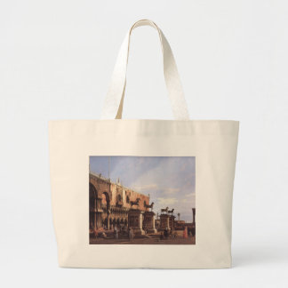 Capriccio: The Horses of San Marco in the Piazzett Large Tote Bag