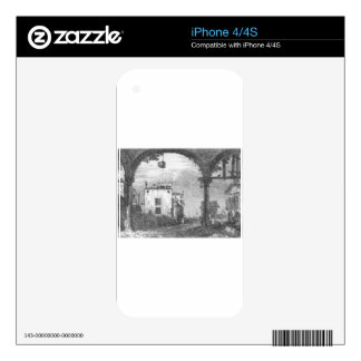 Capriccio with a Portico by Canaletto iPhone 4 Skins