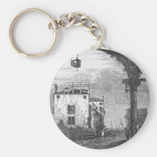 Capriccio with a Portico by Canaletto Keychains