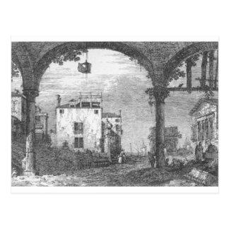 Capriccio with a Portico by Canaletto Postcard