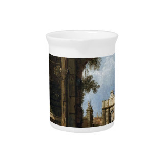 Capriccio with Classical Ruins and Buildings Beverage Pitcher