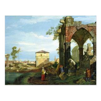 Capriccio with Motifs from Padua, c.1756 Postcard