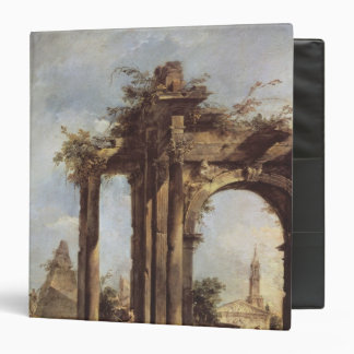Capriccio with Roman Ruins, a Pyramid and Binder