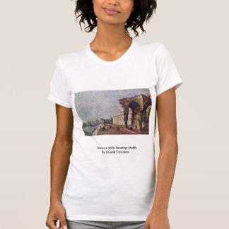 Capriccio With Venetian Motifs By Guardi Francesco T-shirts