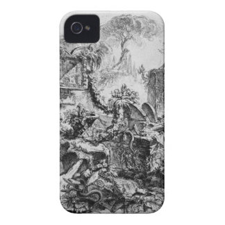Caprice decoration, a group of ruins inhabited iPhone 4 cover