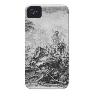 Caprice decorative figures in the center around Case-Mate iPhone 4 case