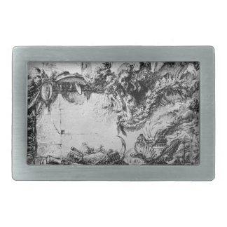 Caprice decorative frames in the middle of a wall belt buckle