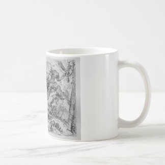Caprice decorative frames in the middle of a wall coffee mug