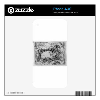 Caprice decorative frames in the middle of a wall iPhone 4 skin
