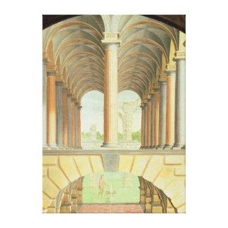 Capricho arquitectónico lienzo envuelto para galerias