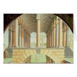 Capricho arquitectónico tarjeta de felicitación