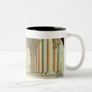 Capricho arquitectónico taza de dos tonos