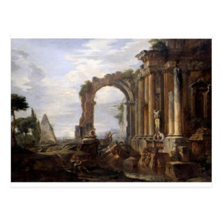 Capricho de las ruinas clásicas Juan Pablo Panini Tarjeta Postal