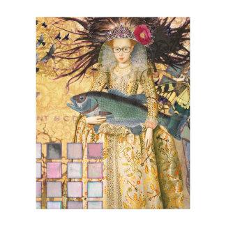 Caprichos góticos del renacimiento de la mujer de impresión en lienzo