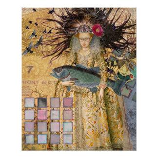 Caprichos góticos del renacimiento de la mujer de perfect poster