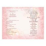 Caprichoso blanco del rosa del programa del boda tarjeta publicitaria