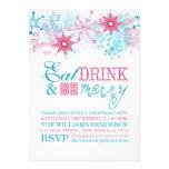 Caprichoso coma la bebida y sea feliz invitacion personalizada